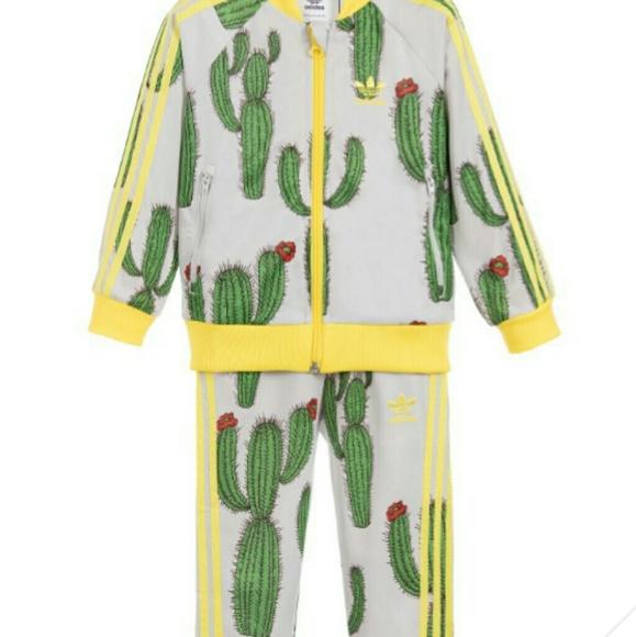 Nwt Mini Rodini Adidas Cactus Track Suit 4t Nwt